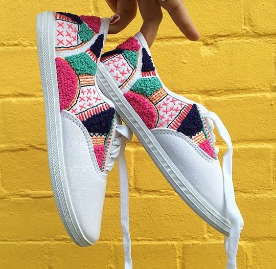 как украсить обувь своими руками фото