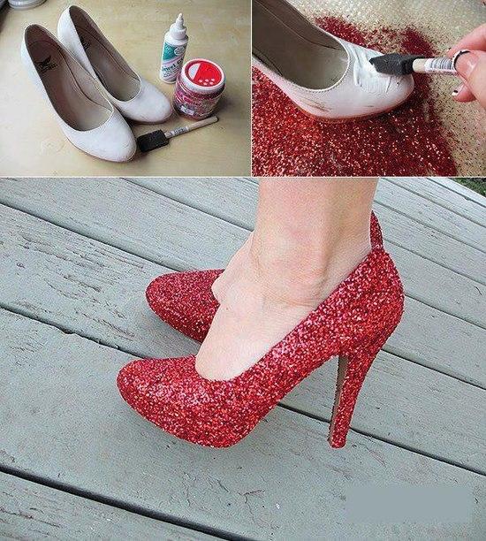 как украсить обувь