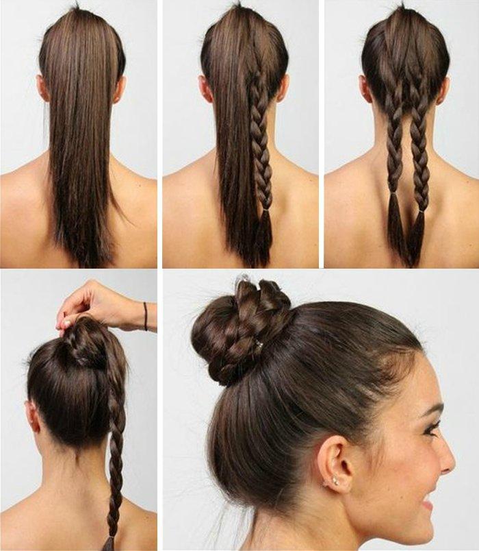 Быстрые повседневные прически на средние волосы: за 5 минут