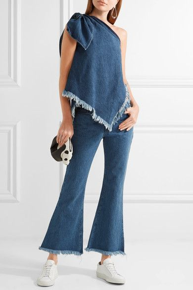 модные джинсы клеш 2017