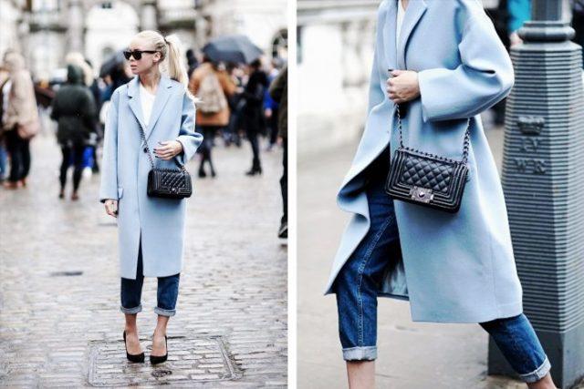 бирюзовое пальто