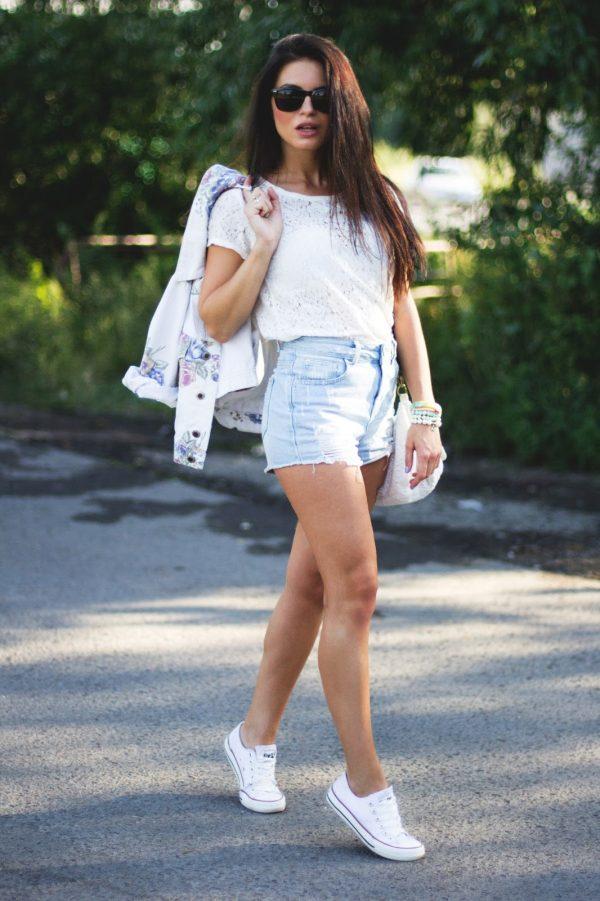 С чем носить белые кеды (55 фото)