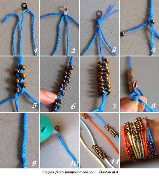 браслет своими руками из шнурков