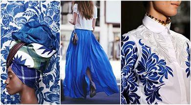 синий цвет в одежде
