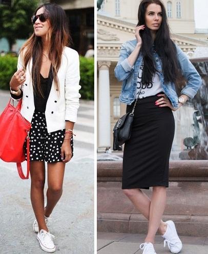 кеды и юбка