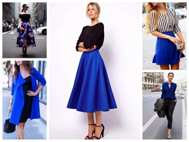 сочетание синего в одежде фото