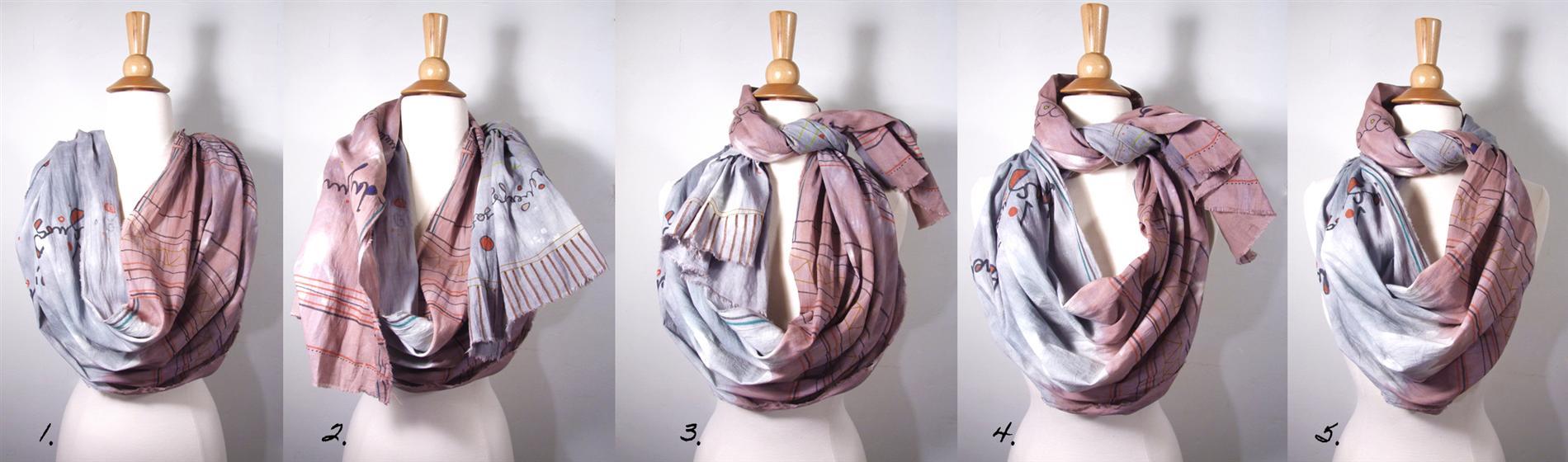 как модно завязать шарф