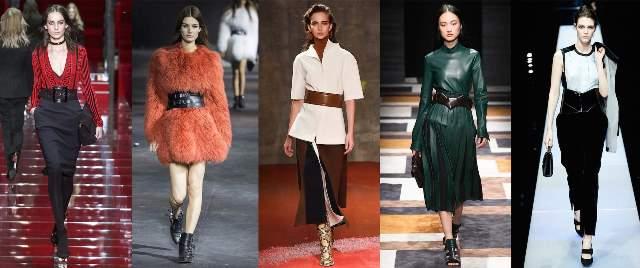 Модные широкие ремни 2017