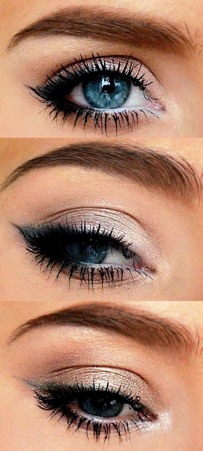 Темный макияж для глаз на каждый день и для торжественных выходов