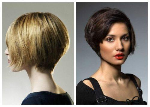 Стрижка боб-каре на короткие волосы 2018: вид сзади и спереди, фото новинок