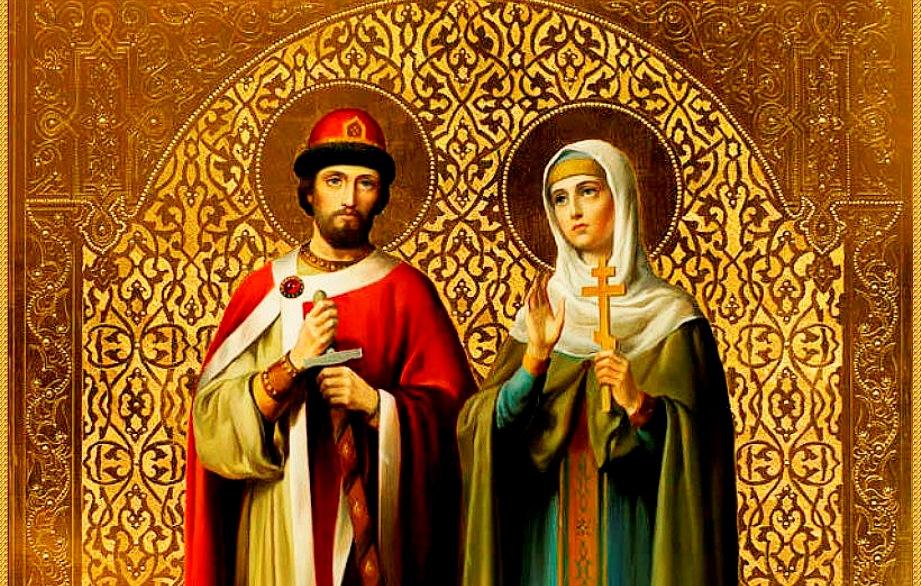 Лики святых Петра и Февронии