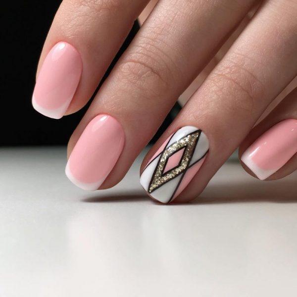 Розовый дизайн ногтей: лучшие идей 2018