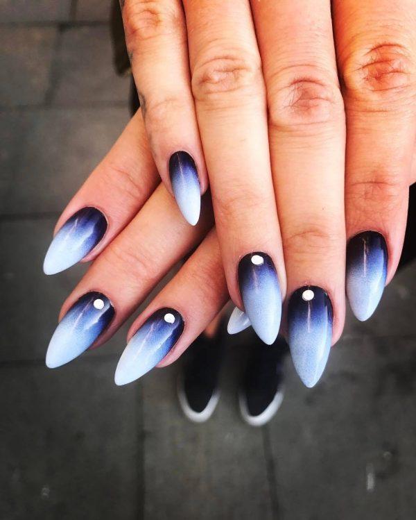 Миндальная форма ногтей: дизайн 2018