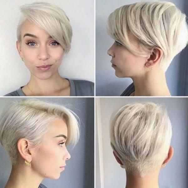 Стильная стрижка пикси на короткие волосы: фото 2021