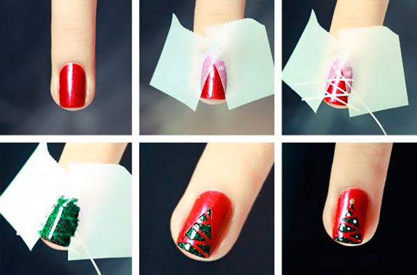 Идеи маникюра на Новый 2020 год для коротких ногтей