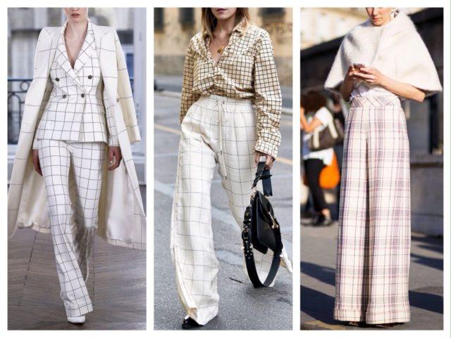С чем носить женские брюки в клетку в 2020 году