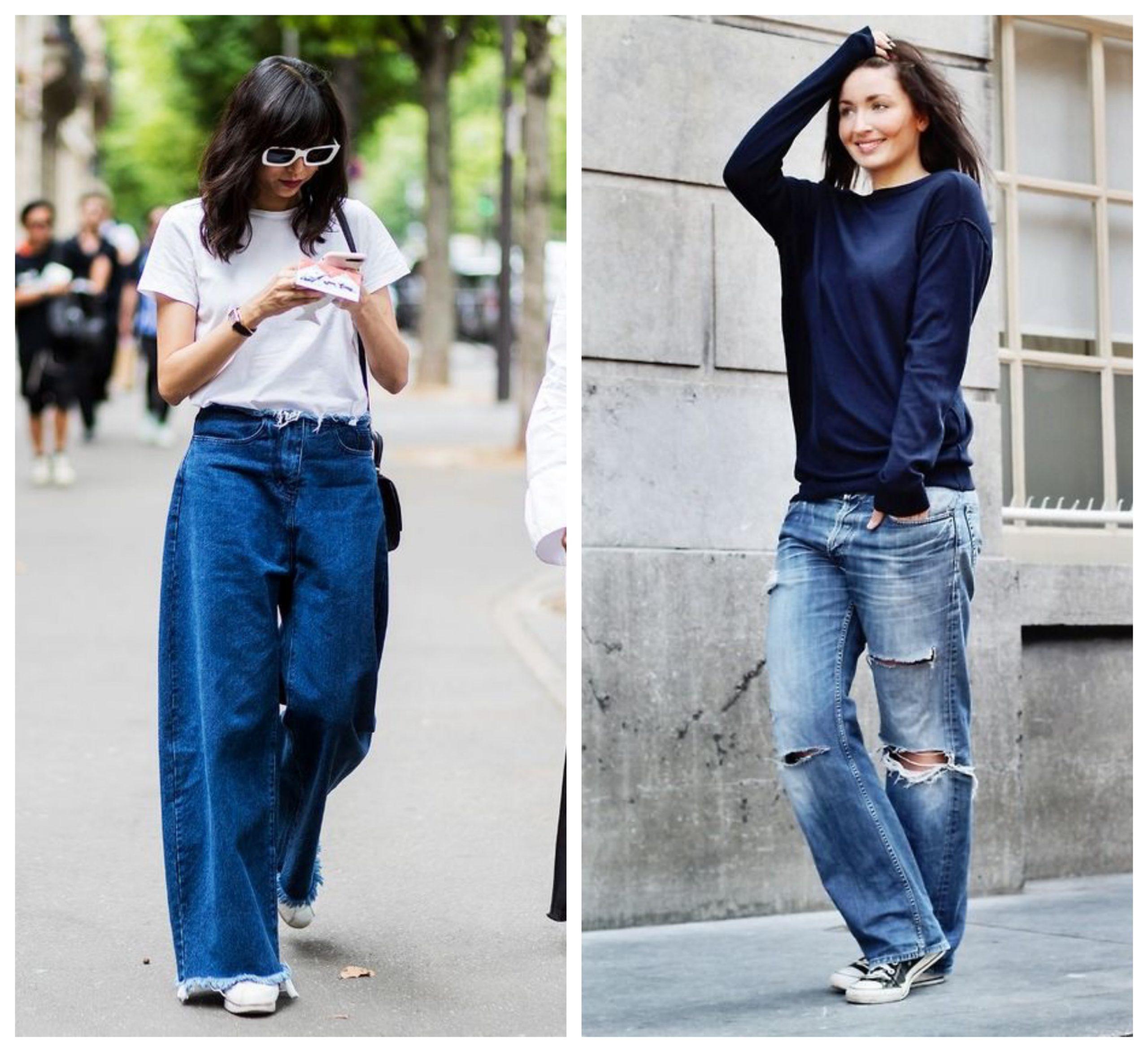женские джинсы формата оверсайз
