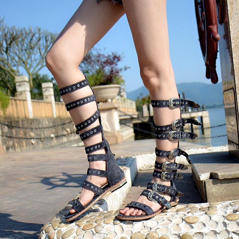 Оригинальные гладиаторские сандалии