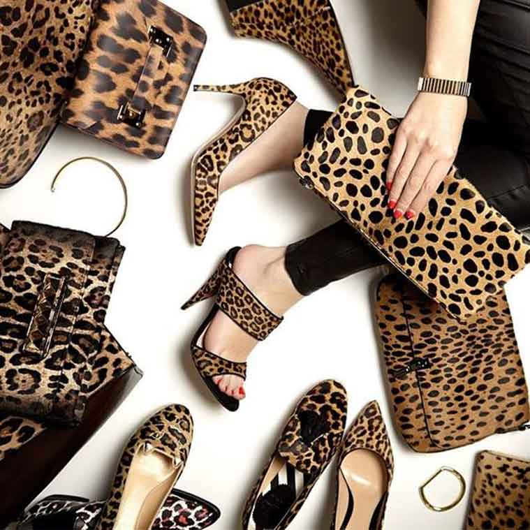 Оригинальный леопардовый принт босоножек