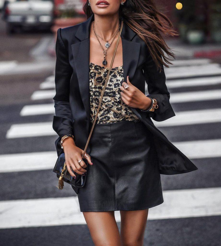юбки из кожи 2021