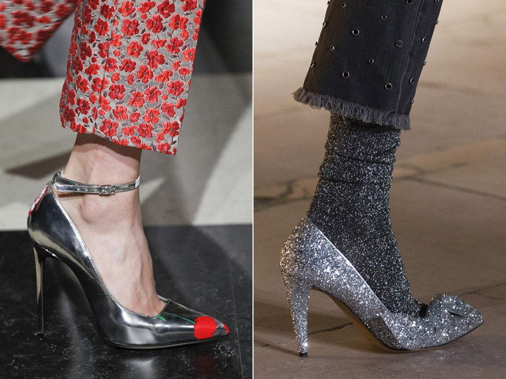 Туфли с металлическим оттенком