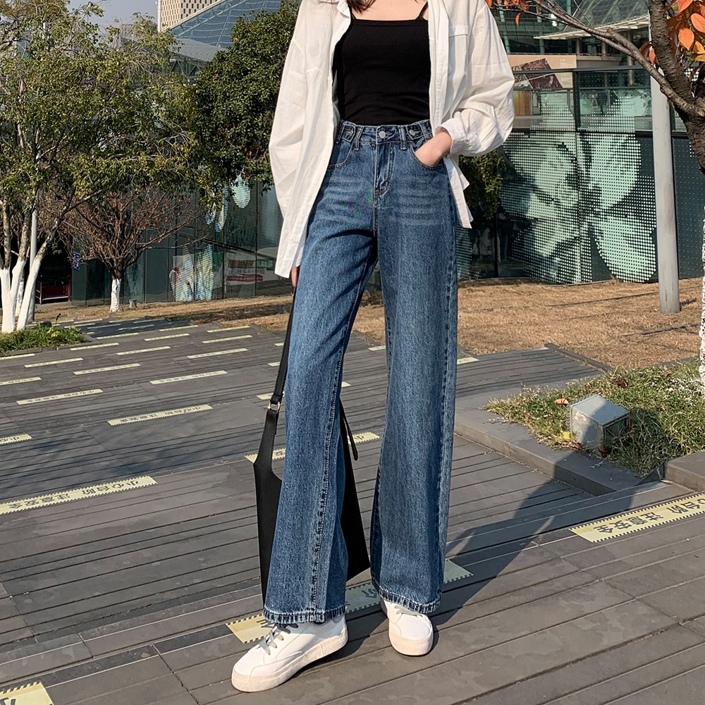 Завышенная посадка джинсы