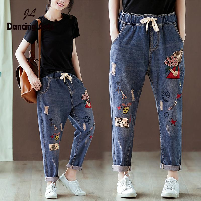 Модные женские джинсы 2021 в стиле пэчворк