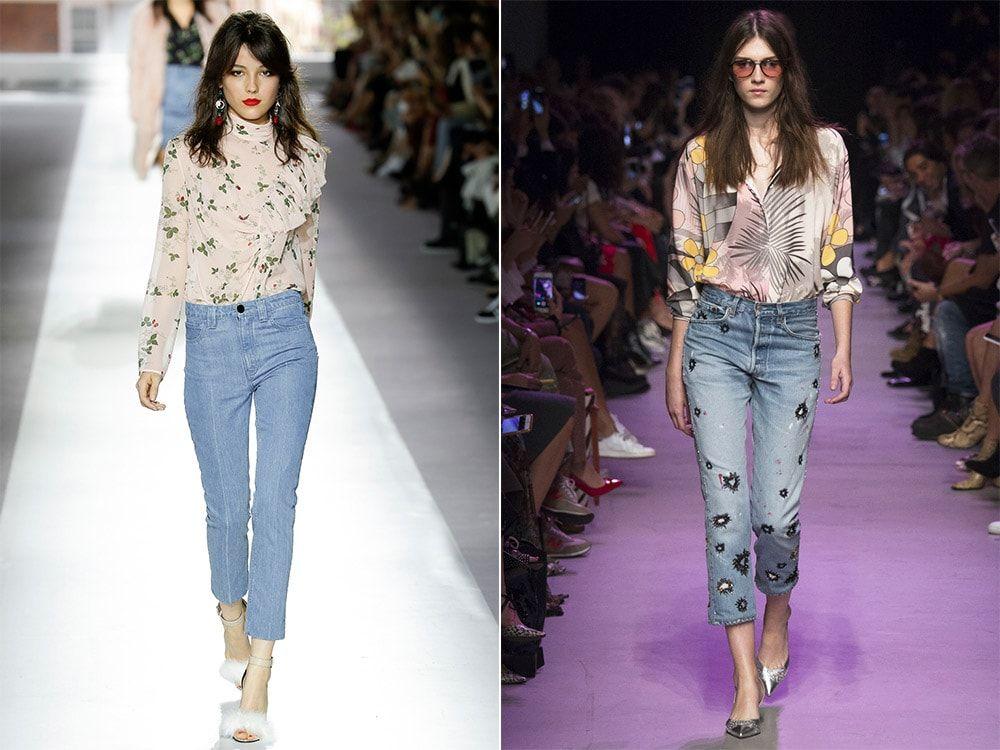 Модные женские джинсы 2021 нестандартный крой