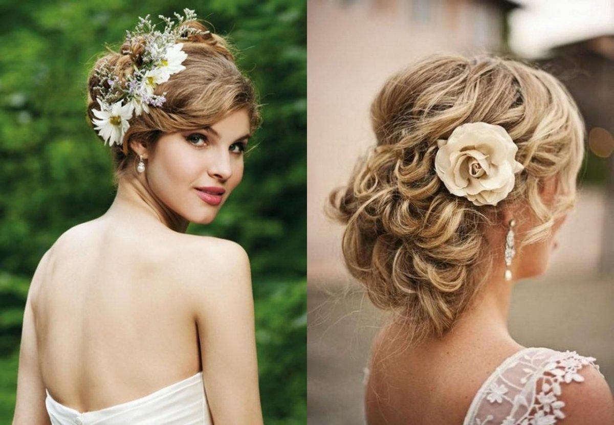 Свадебные прически на длинные, средние, короткие волосы и каре: фото, тренды сезона